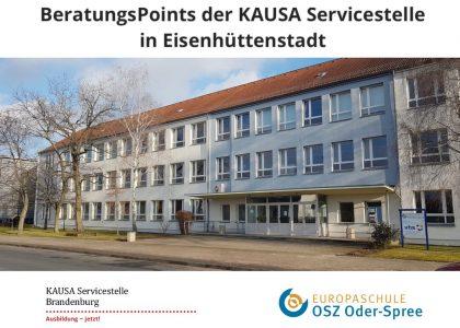 Neuer KAUSA-BeratungsPunkt am OSZ in Eisenhüttenstadt